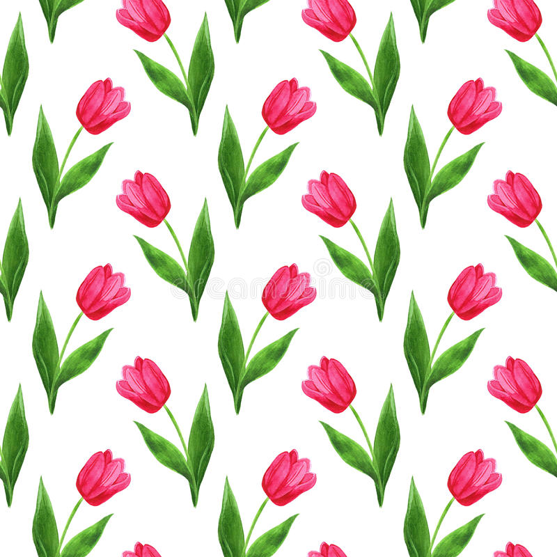 Modelo de los tulipanes stock de ilustración