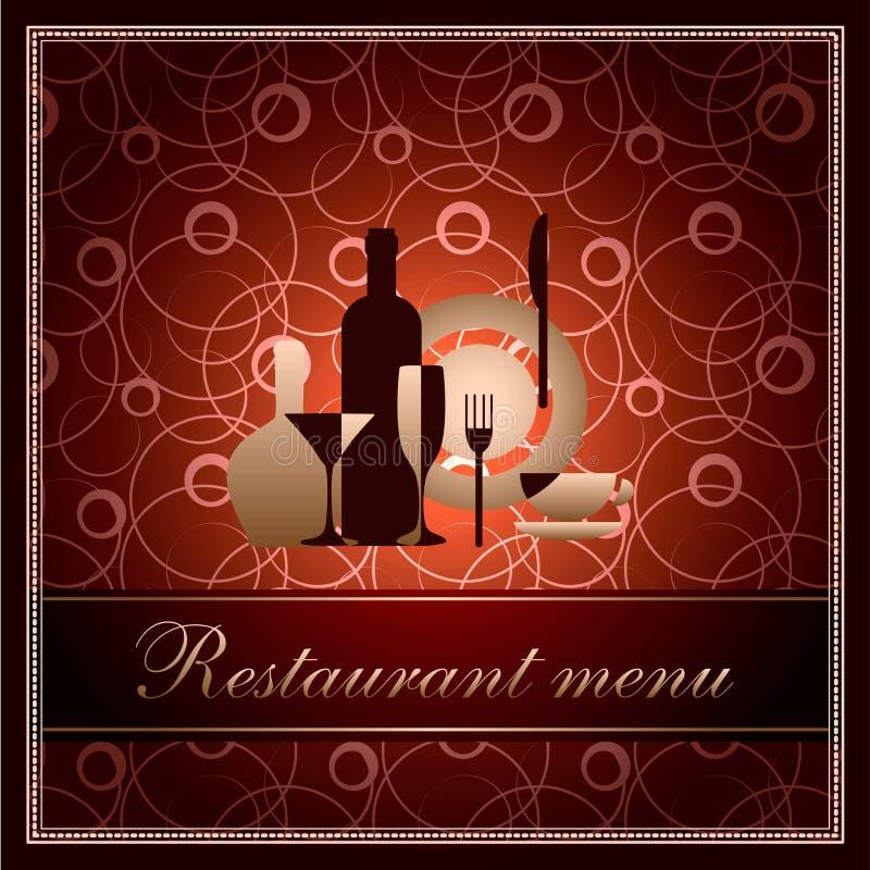 Modelo de lujo para el menú del restaurante de f ilustración del vector