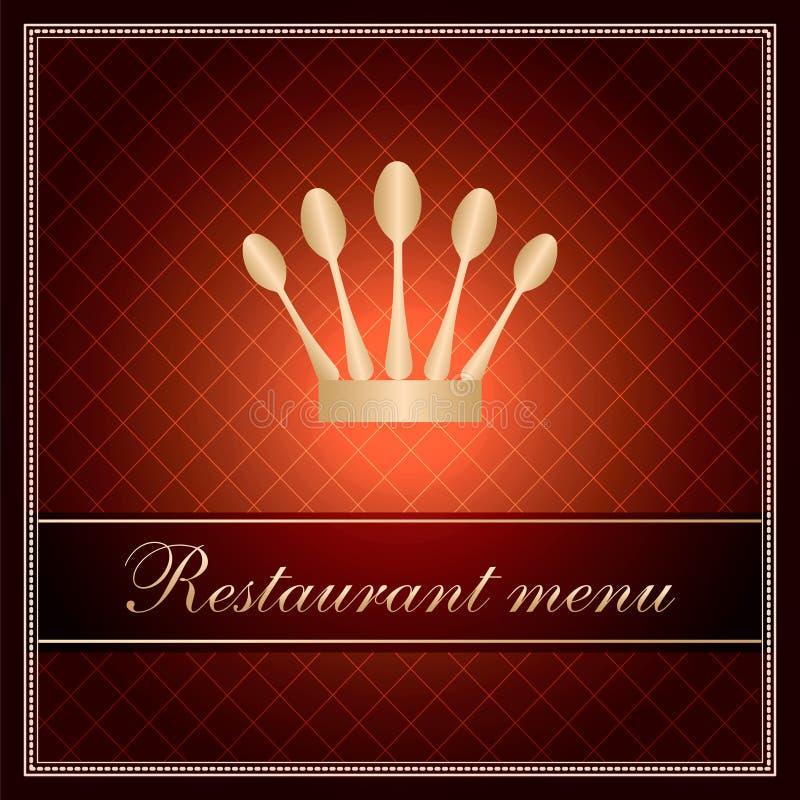 Modelo de lujo para un menú del restaurante ilustración del vector