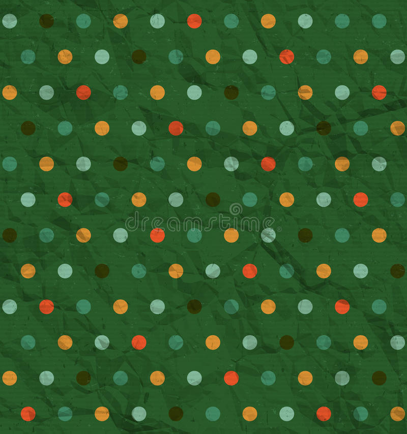 Modelo de lunar en fondo verde stock de ilustración