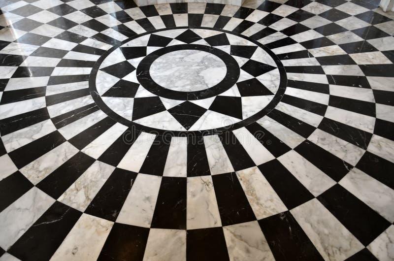 Modelo de m rmol blanco y negro del suelo foto de archivo for Marmol negro y blanco