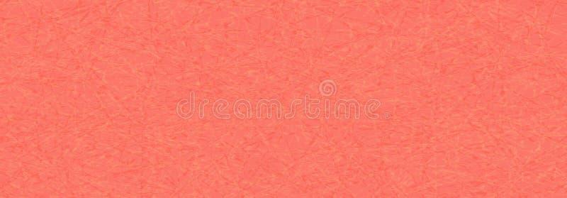 Modelo de mármol del vector de hilos enredados en el contexto rojo, color moderno, de moda del coral de vida ilustración del vector