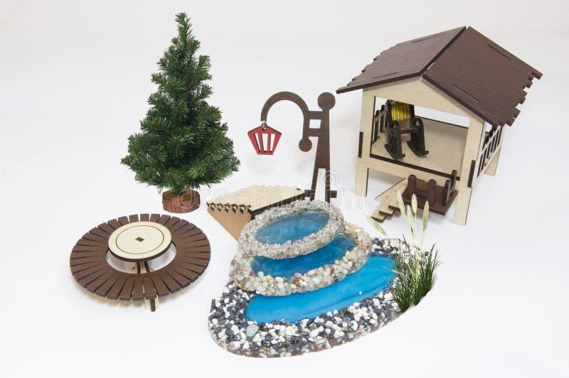 Modelo de madeira do brinquedo imagem de stock