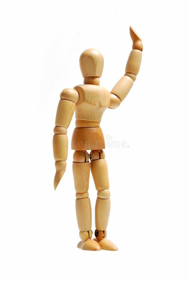 Modelo de madeira do ser humano do fantoche imagem de stock royalty free