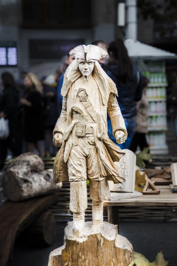 Modelo de madeira de Jack Sparrow foto de stock royalty free