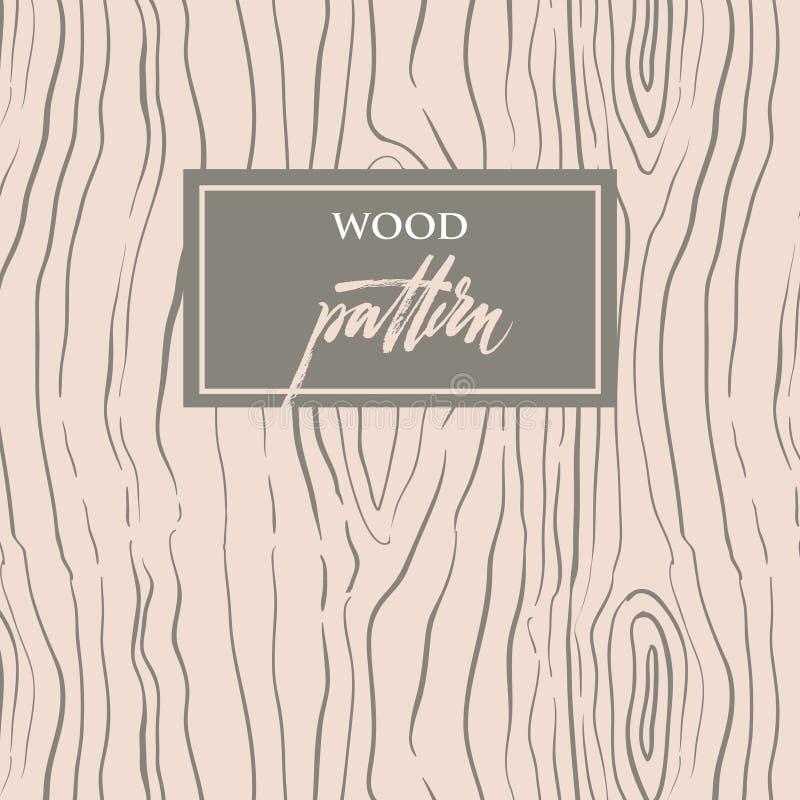 Modelo de madera ilustración del vector