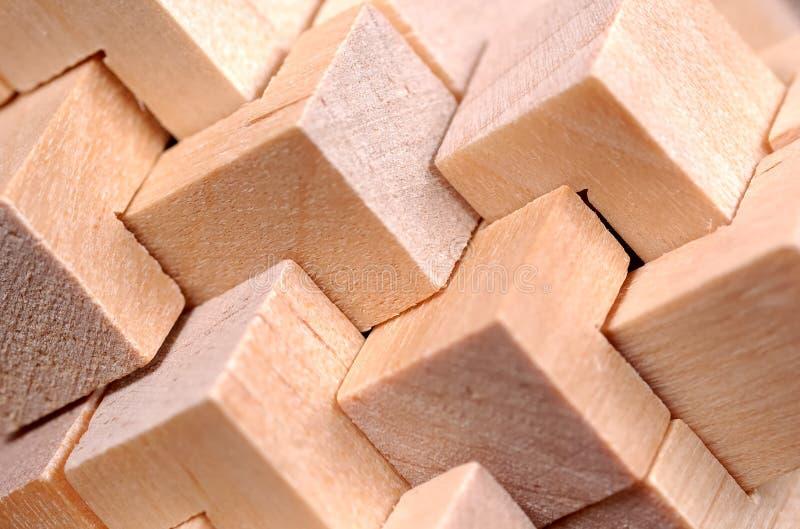 Modelo de madera abstracto fotografía de archivo libre de regalías
