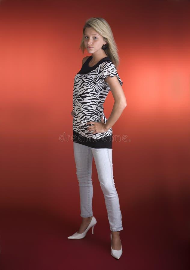 Modelo de manera adolescente imagenes de archivo