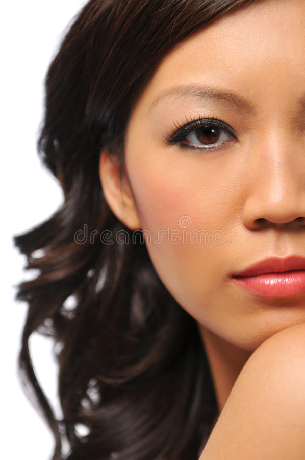 Modelo de manera asiático joven hermoso imagen de archivo libre de regalías