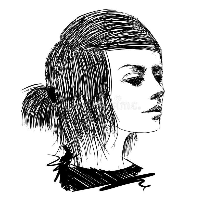 Modelo de manera drenado mano libre illustration