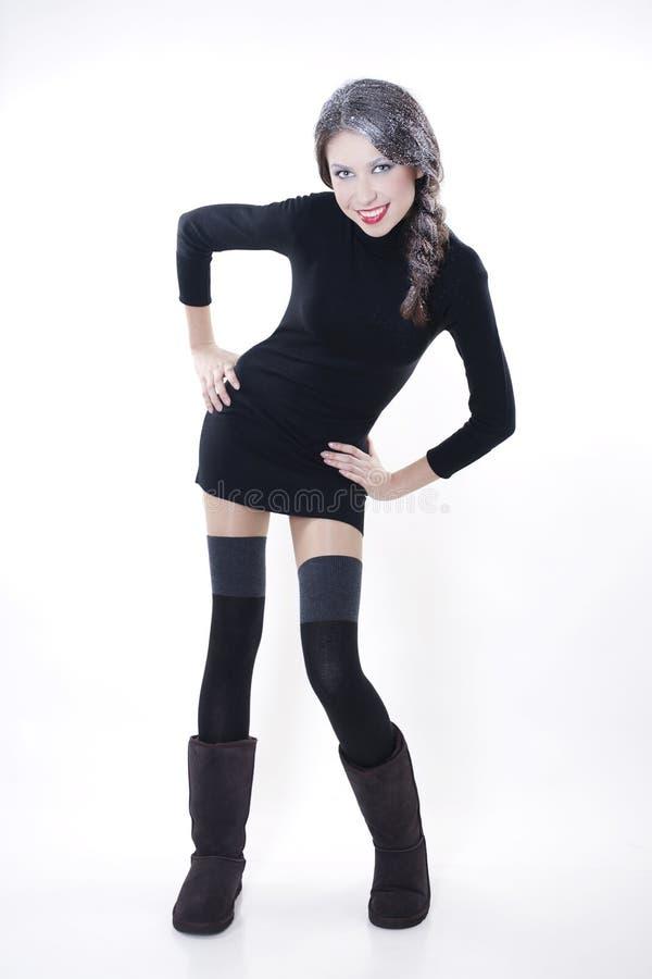 Modelo de manera en ropa del invierno imagen de archivo libre de regalías