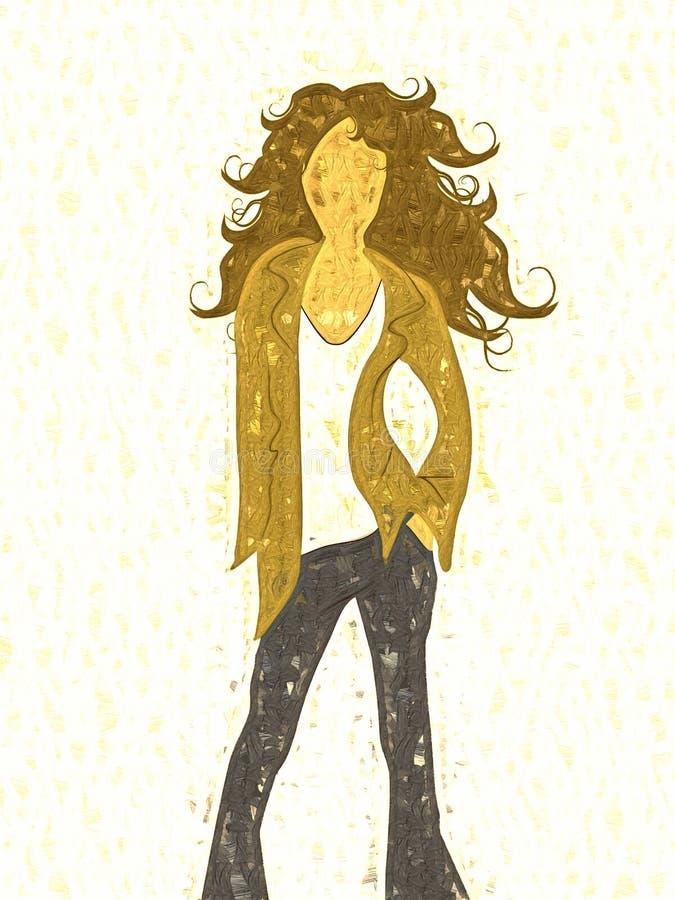 Modelo de manera femenino abstracto ilustración del vector