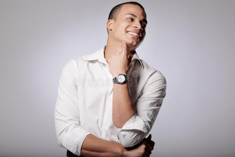 Modelo de manera masculino del African-American joven. imágenes de archivo libres de regalías