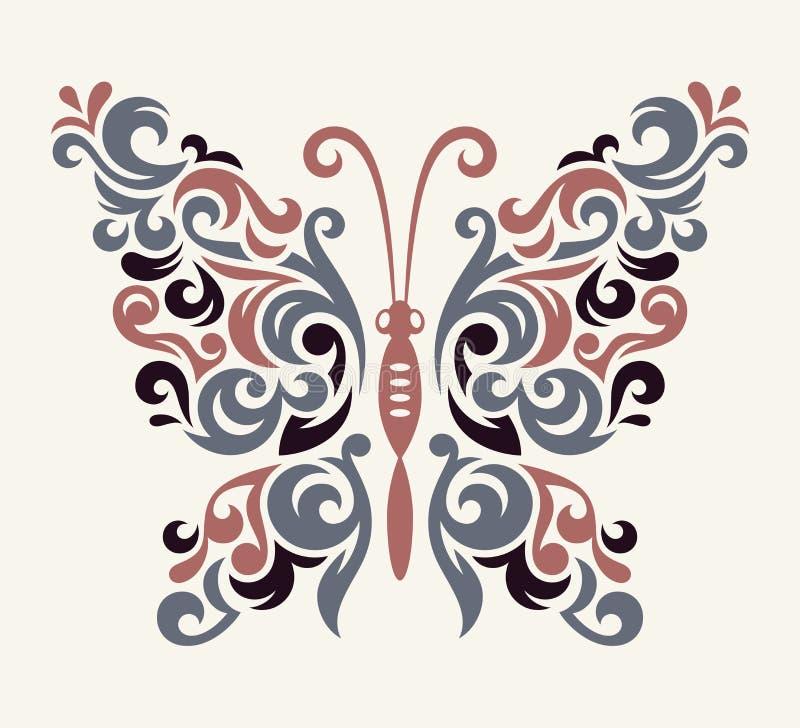 Modelo de mariposa del vector stock de ilustración