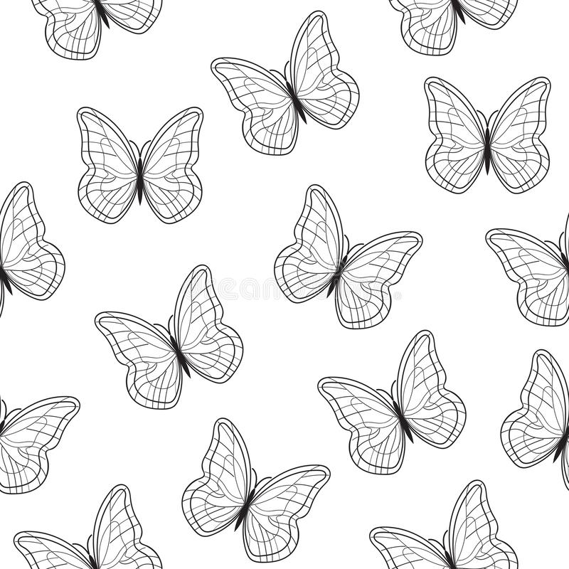 Modelo de mariposas hermoso inconsútil Ilustración del vector EPS10 libre illustration