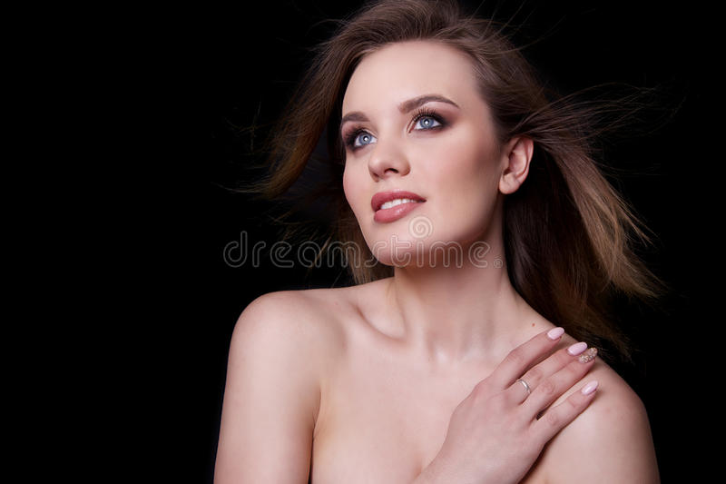 Modelo de moda de la belleza Woman, retrato foto de archivo libre de regalías