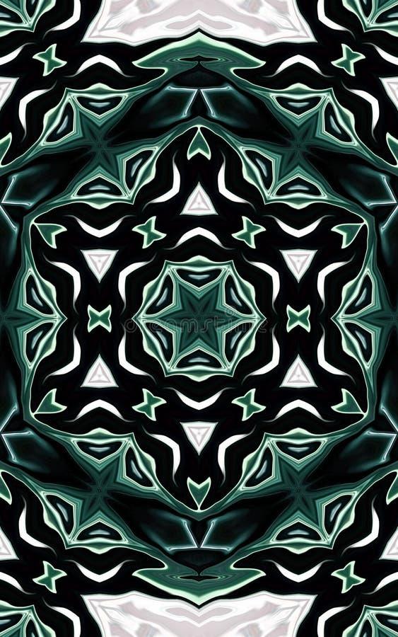 Modelo de mosaico árabe marroquí inconsútil ilustración del vector