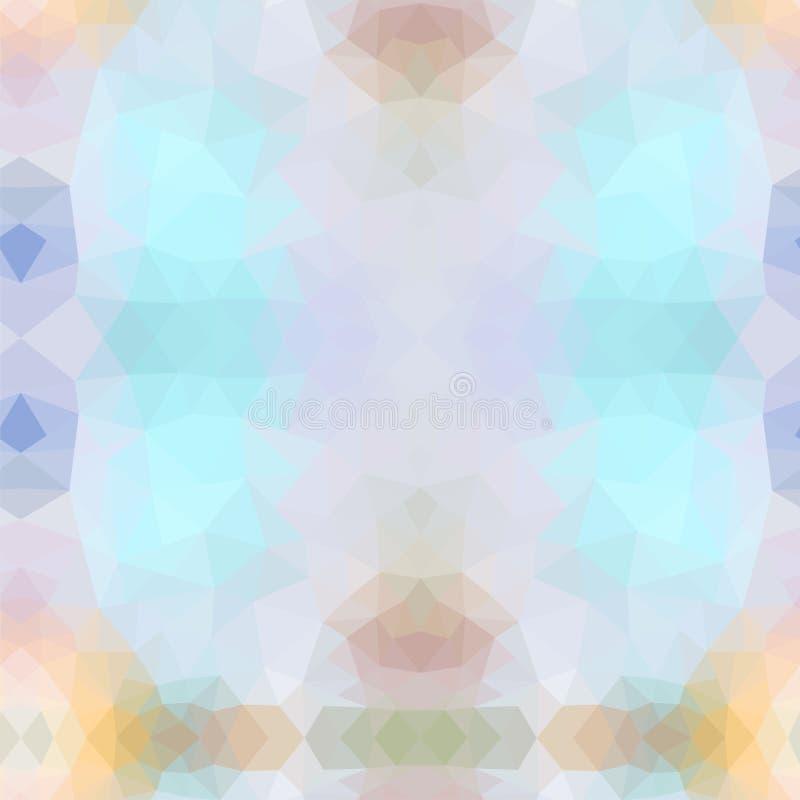 Modelo de mosaico abstracto Triángulo geométrico Elementos del diseño Ilustración del vector Colores rosados, azules, violetas Vi stock de ilustración