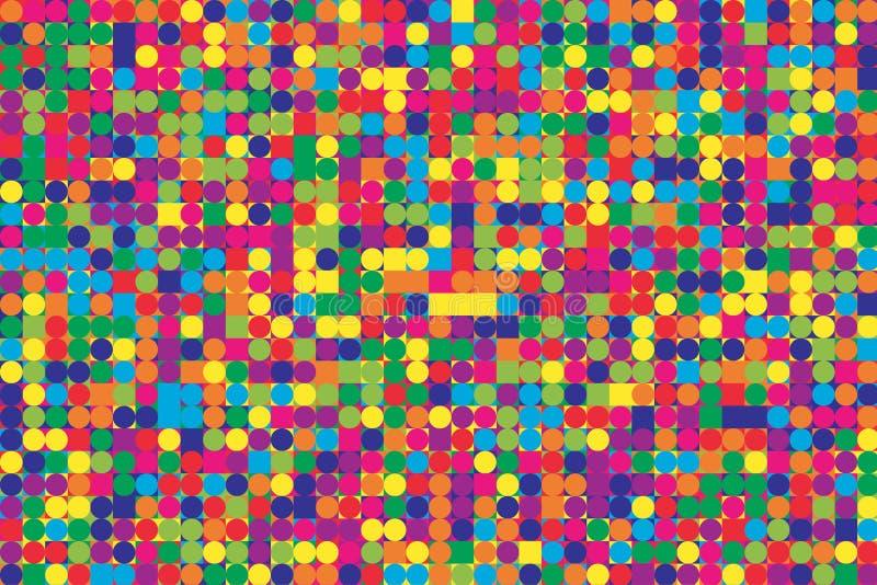 Modelo de mosaico brillante fantástico ilustración del vector