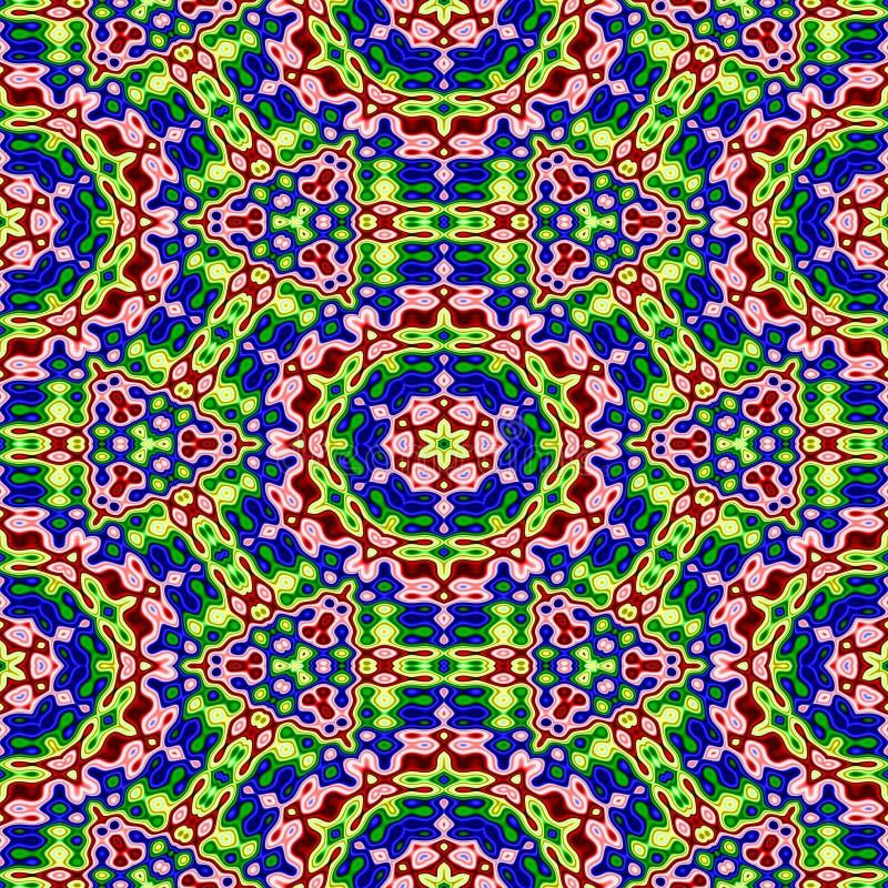 Modelo de mosaico colorido abstracto Espectro de color floral del arco iris Fondo adornado multicolor de la textura Vector incons ilustración del vector