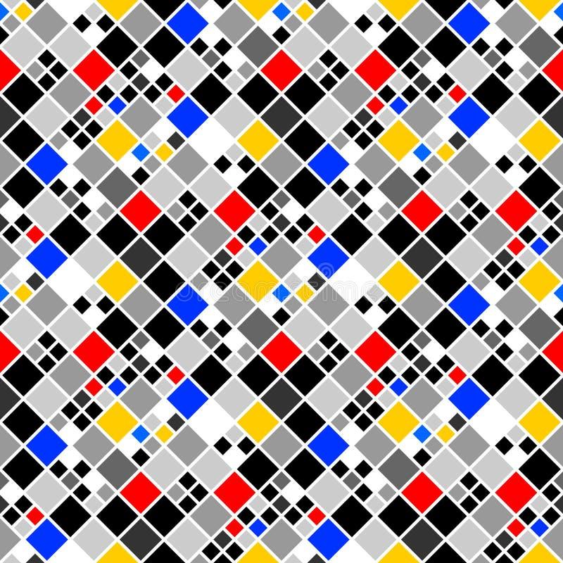 Modelo de mosaico colorido inconsútil del diseño stock de ilustración