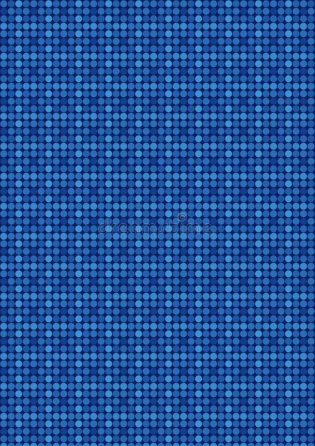 Modelo de mosaico cuadrado retro azul stock de ilustración