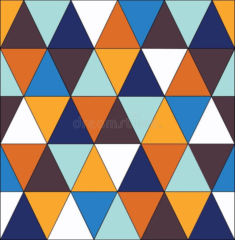 Modelo de mosaico geométrico del triángulo azul fotos de archivo libres de regalías