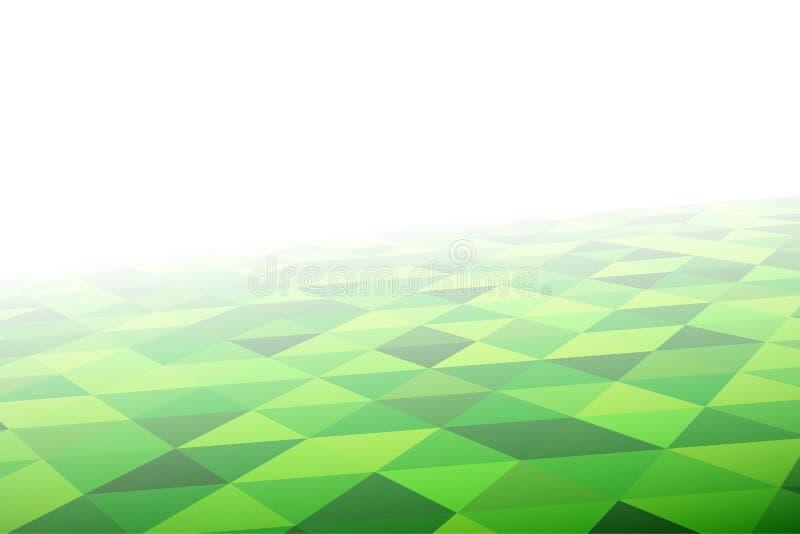 Modelo de mosaico geométrico en perspectiva ilustración del vector