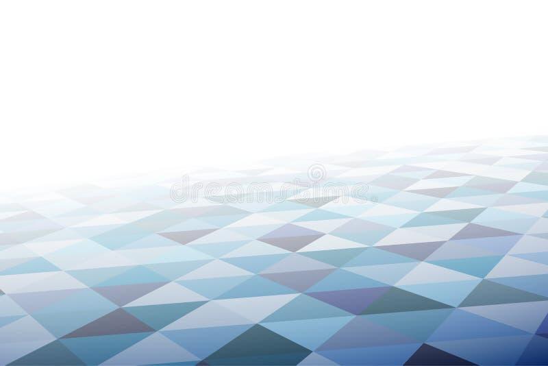 Modelo de mosaico geométrico en perspectiva stock de ilustración