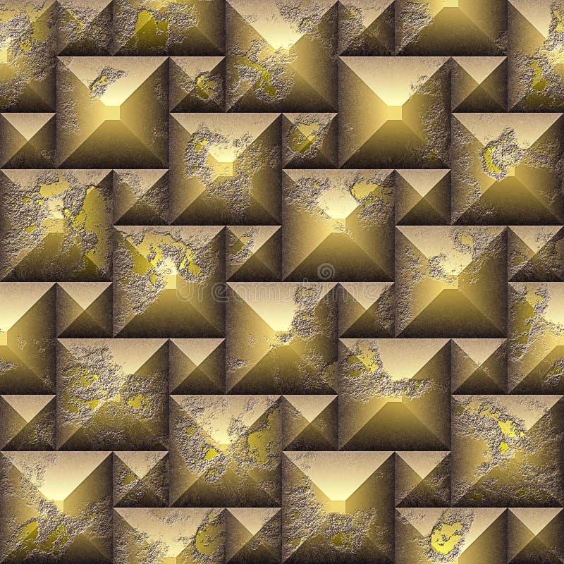 Modelo de mosaico inconsútil del alivio 3d de cubos resistidos fotografía de archivo