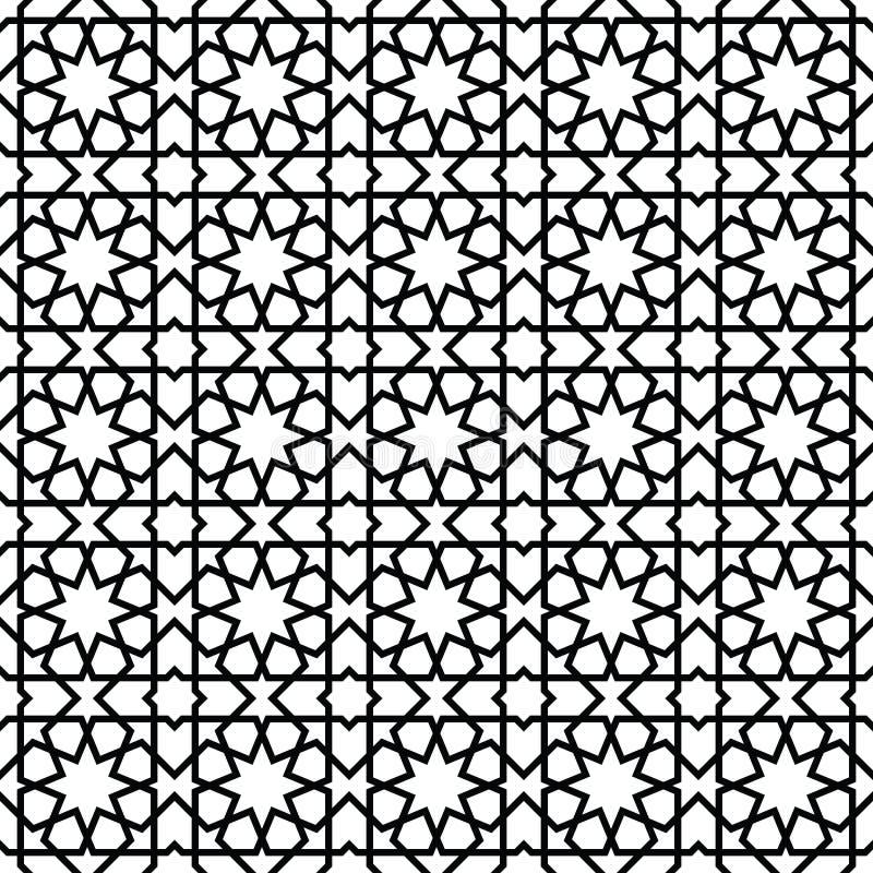 Modelo de mosaico marroquí del estilo ilustración del vector