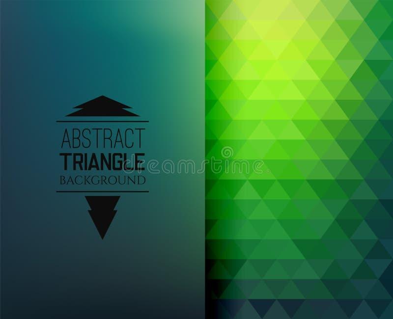 Modelo de mosaico retro de las formas geométricas del triángulo stock de ilustración