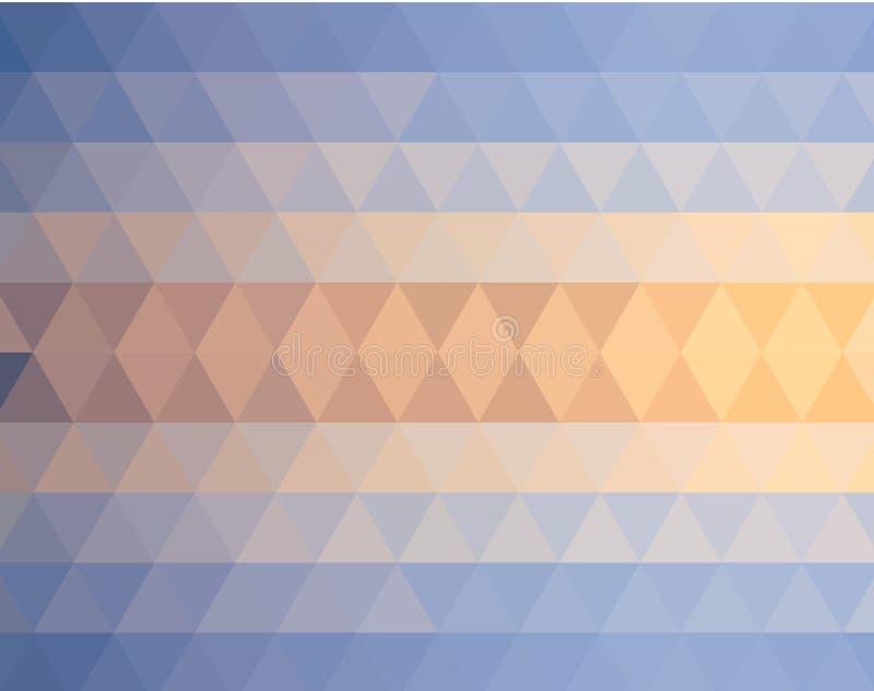 Modelo de mosaico retro de la textura geométrica de formas del triángulo ilustración del vector