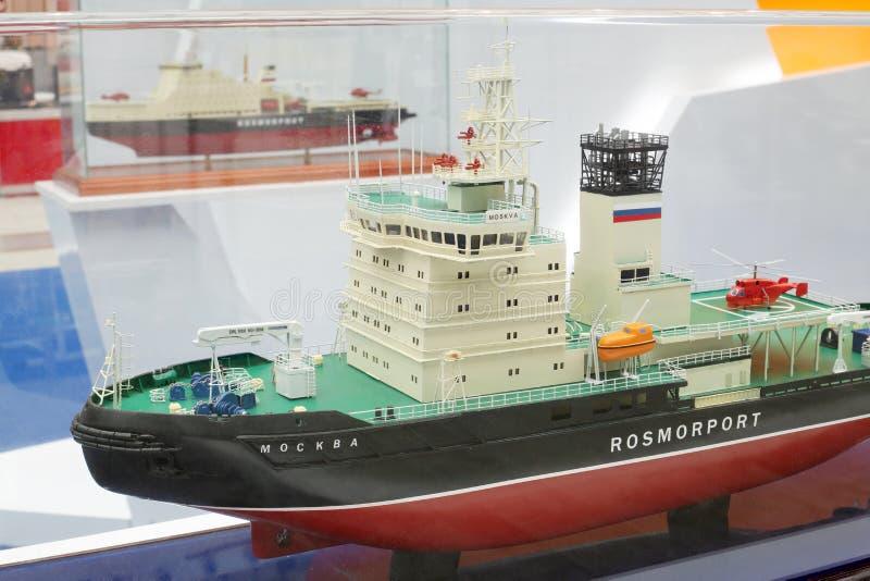 Modelo de Moskva do quebra-gelo fotos de stock
