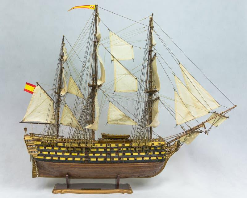 Modelo de navio da navigação fotografia de stock