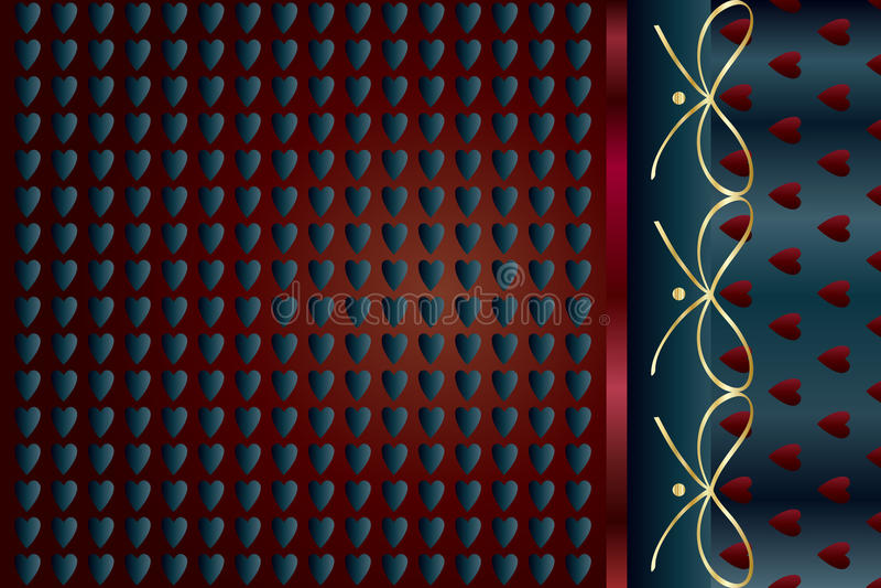 Modelo de Nvitation con floral abstracto stock de ilustración