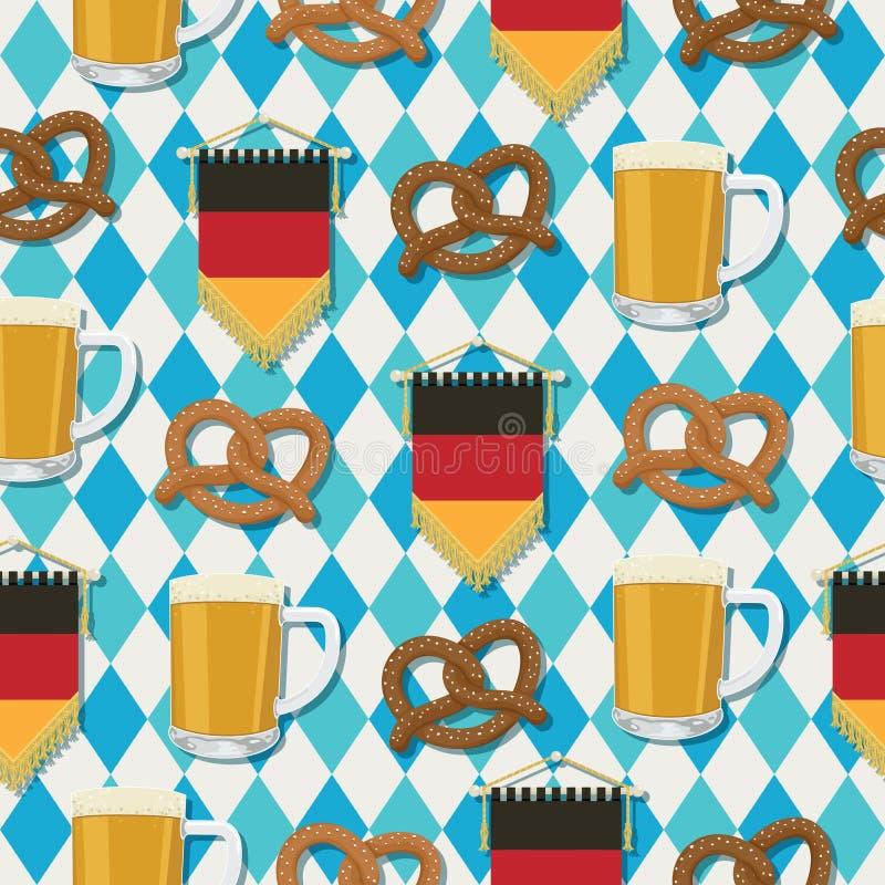 Modelo de Oktoberfest stock de ilustración