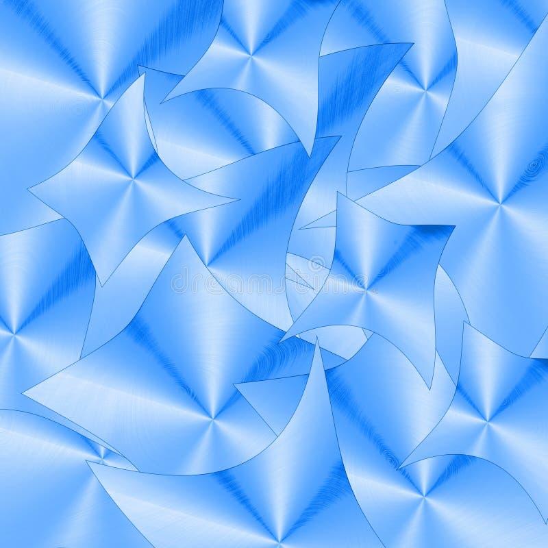 Modelo de onda de Bokeh del metal ilustración del vector