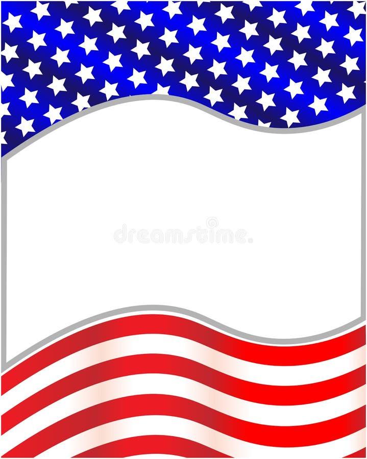 Modelo de onda decorativo patriótico del marco de la bandera de los E.E.U.U. del americano libre illustration