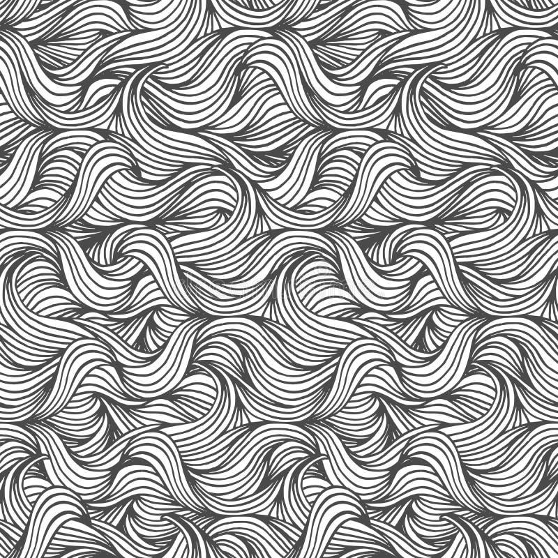 Modelo de onda inconsútil stock de ilustración