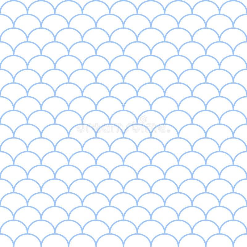 Modelo de onda inconsútil azul y blanco abstracto Illustrati del vector libre illustration