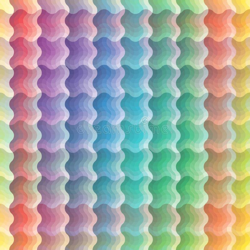 Modelo de onda vivo inconsútil ilustración del vector