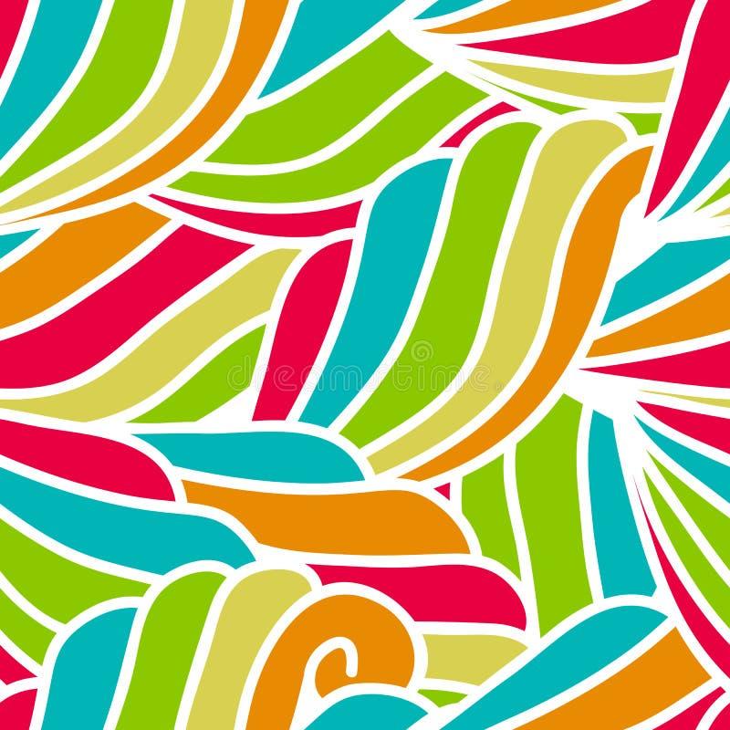 Download Modelo De Ondas A Mano Abstracto, Backgr Floral Inconsútil Del Vector Ilustración del Vector - Ilustración de colorido, pelo: 44857562