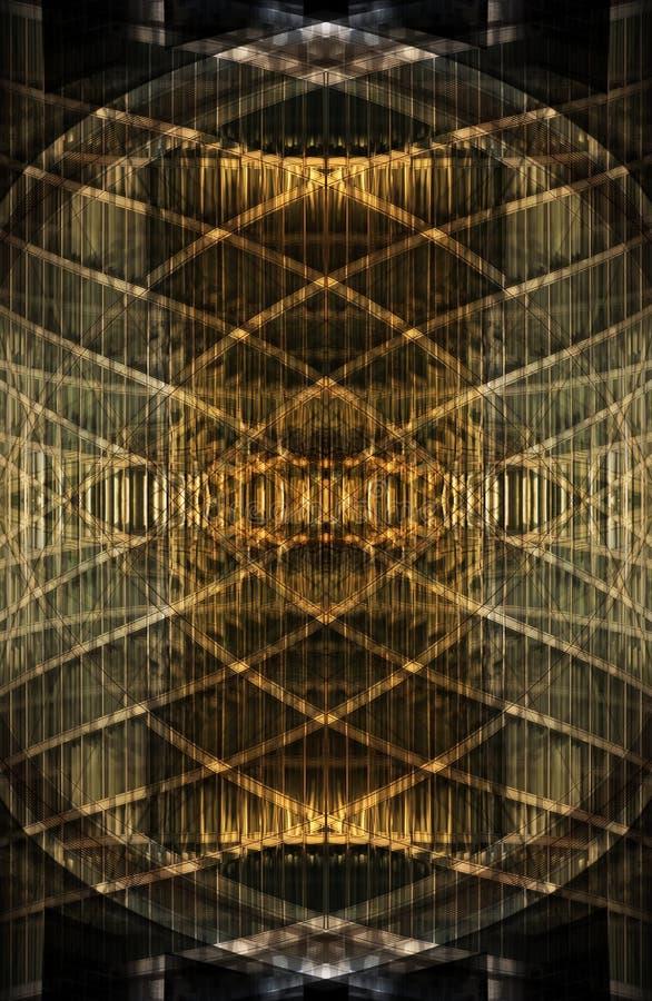 Modelo de oro abstracto imagenes de archivo