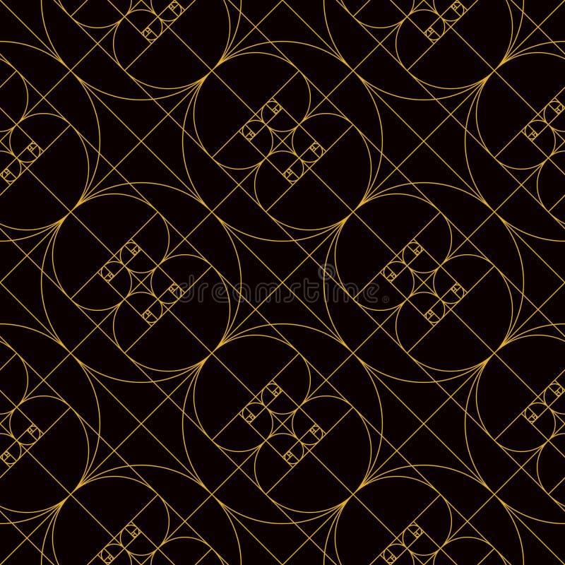 Modelo de oro espiral de oro del ratio ilustración del vector