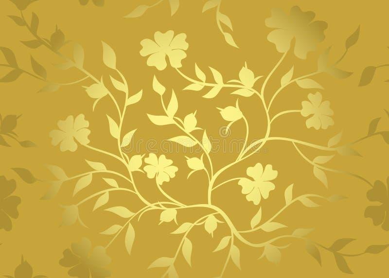 Modelo de oro floral libre illustration