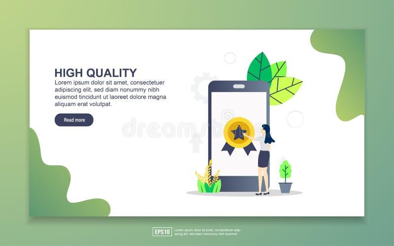 Modelo de página inicial de alta qualidade Conceito moderno de design simples de página web para website e website móvel Fácil de ilustração royalty free