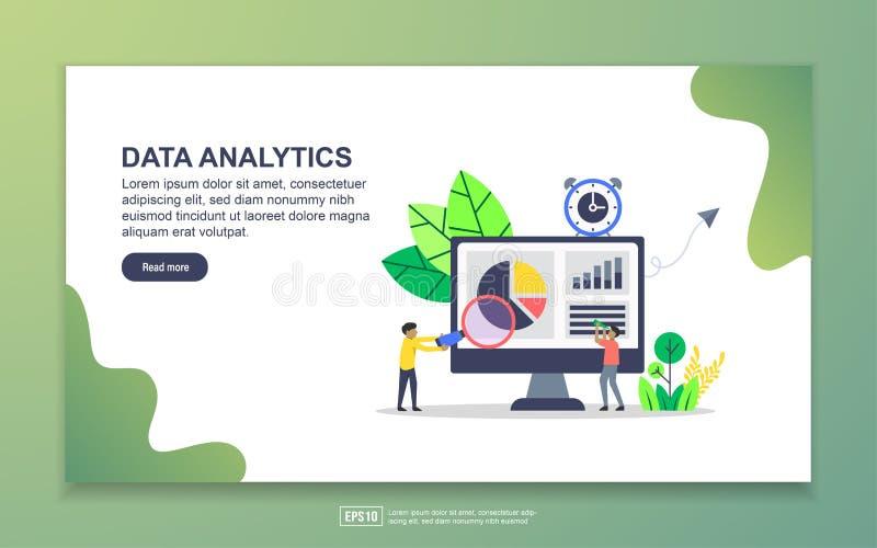 Modelo de página inicial da análise de dados Conceito moderno de design simples de página web para website e website móvel Fácil  ilustração do vetor