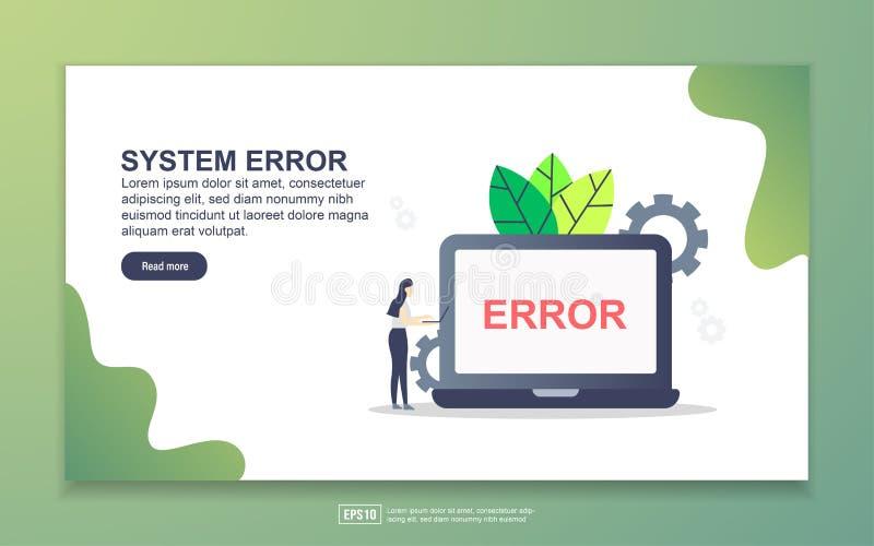 Modelo de página inicial de erro de sistema Conceito moderno de design simples de página web para website e website móvel Fácil d ilustração royalty free