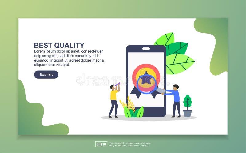 Modelo de página inicial de melhor qualidade Conceito moderno de design simples de página web para website e website móvel Fácil  ilustração royalty free